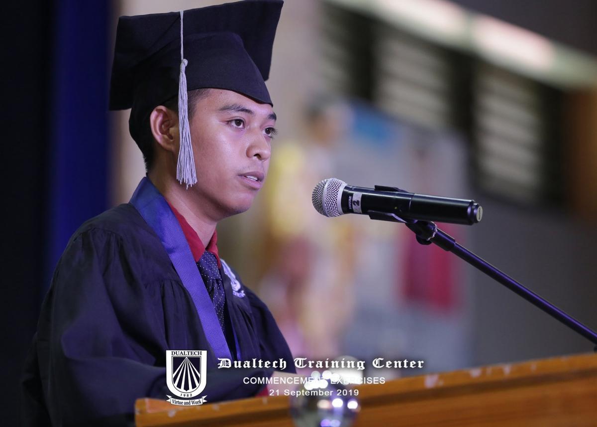 John Mark D. Mata, from Valencia City Bukidnon | Scholar, Angelicum Foundation | Trained at Susalum Corporation