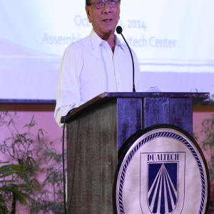 An opening message given by Mr. Juan B. Santos, Dualtech Chairman, on the occasions of Dualtech Center 32nd Foundation Anniversary and 20th Year of Dual Training System Law in the Philippines