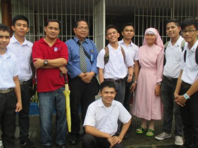 Dualtech students helped care for the Aged in Calamba City