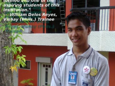 William Delos Reyes. Vishay (Phils.) Trainee